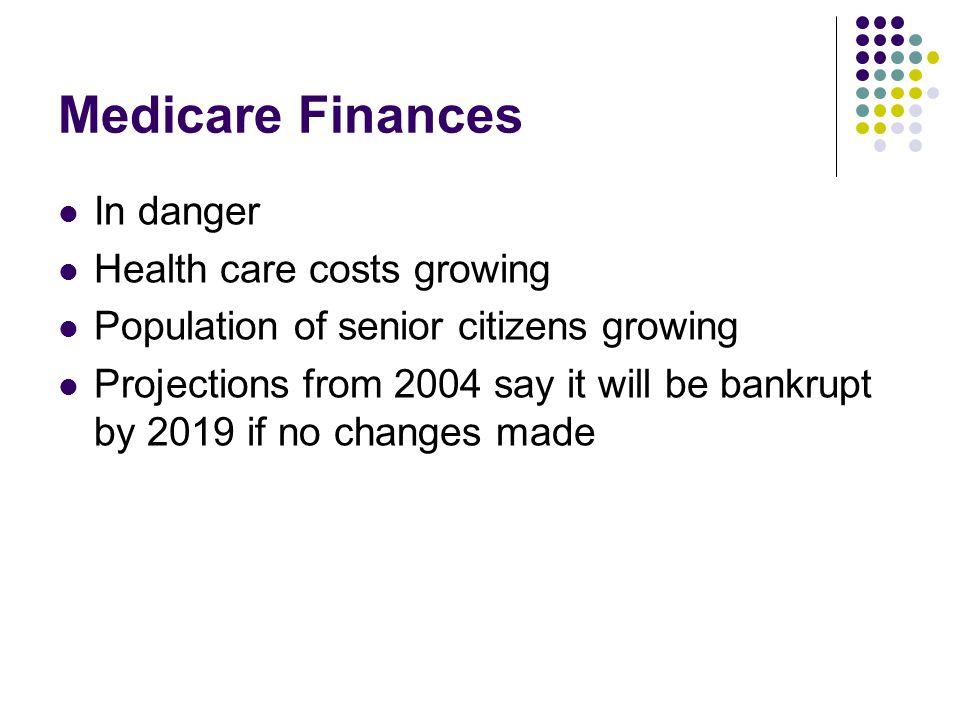 Medicare Finances In danger Health care costs growing