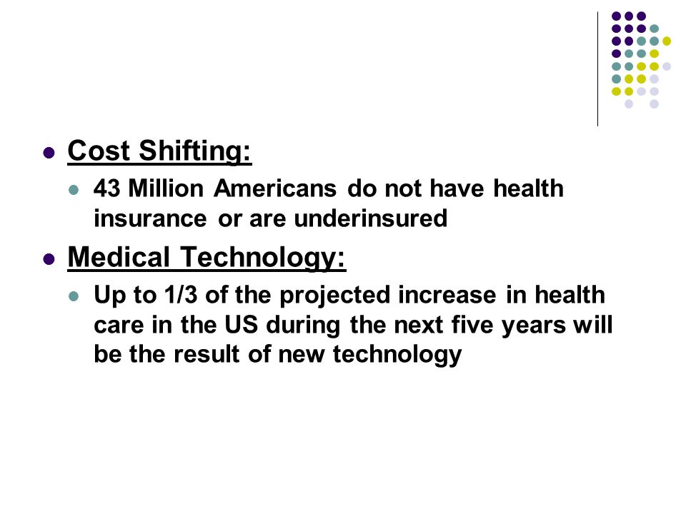 Cost Shifting: Medical Technology: