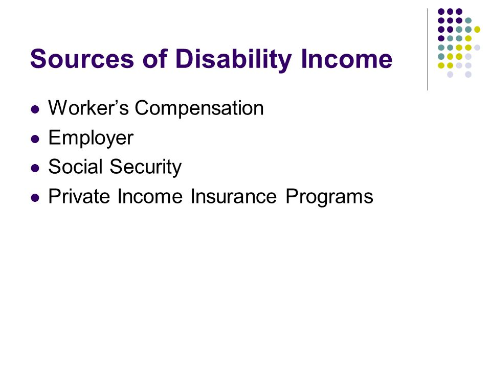 Sources of Disability Income