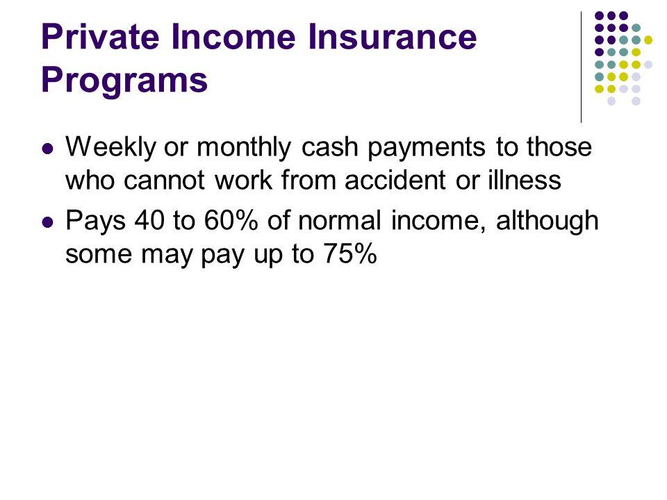 Private Income Insurance Programs