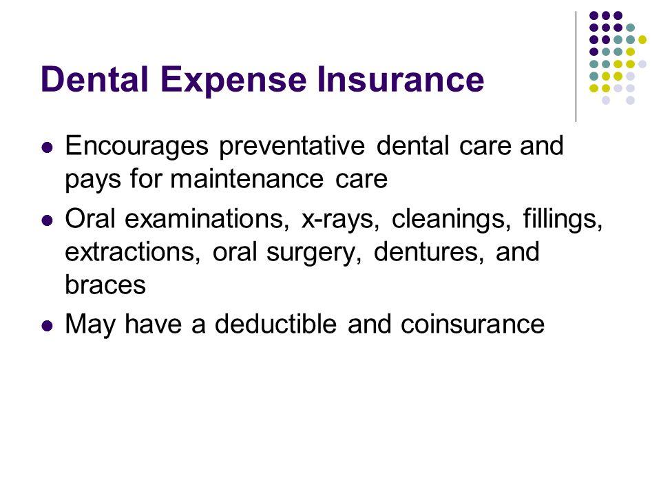 Dental Expense Insurance
