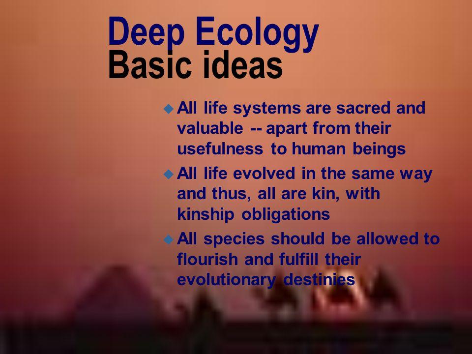 Deep Ecology Basic ideas