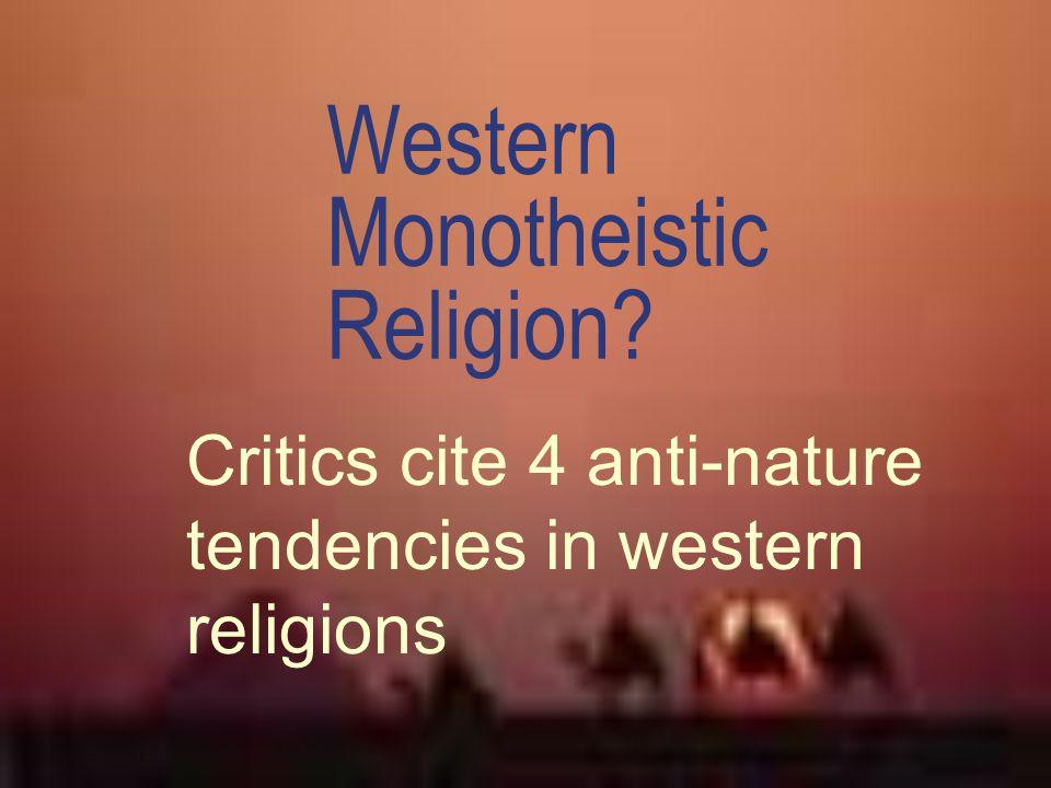 Western Monotheistic Religion
