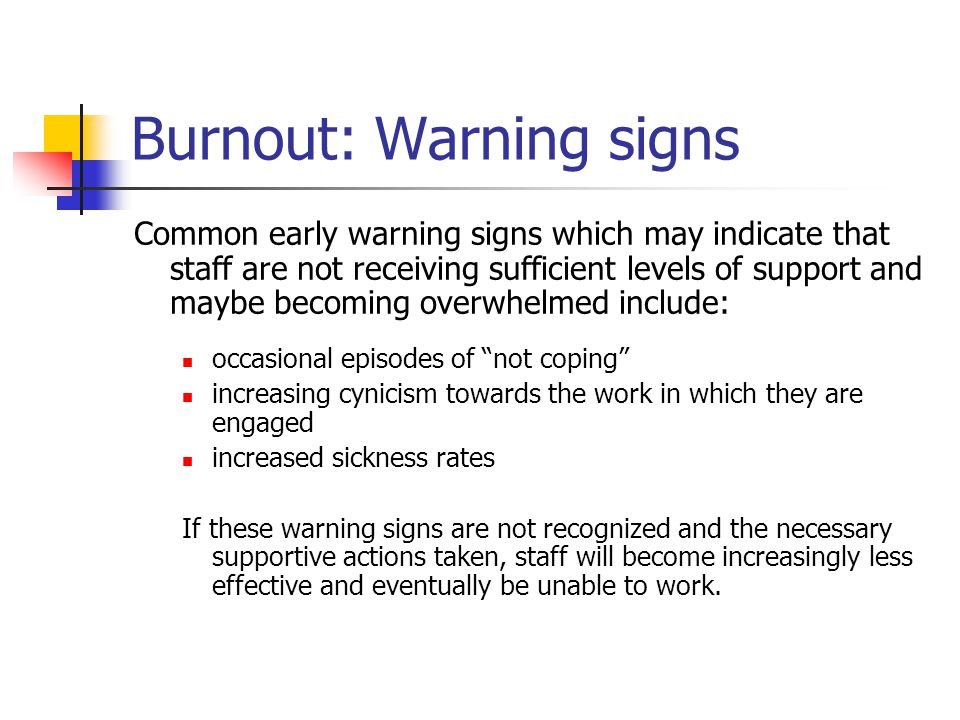 Burnout: Warning signs