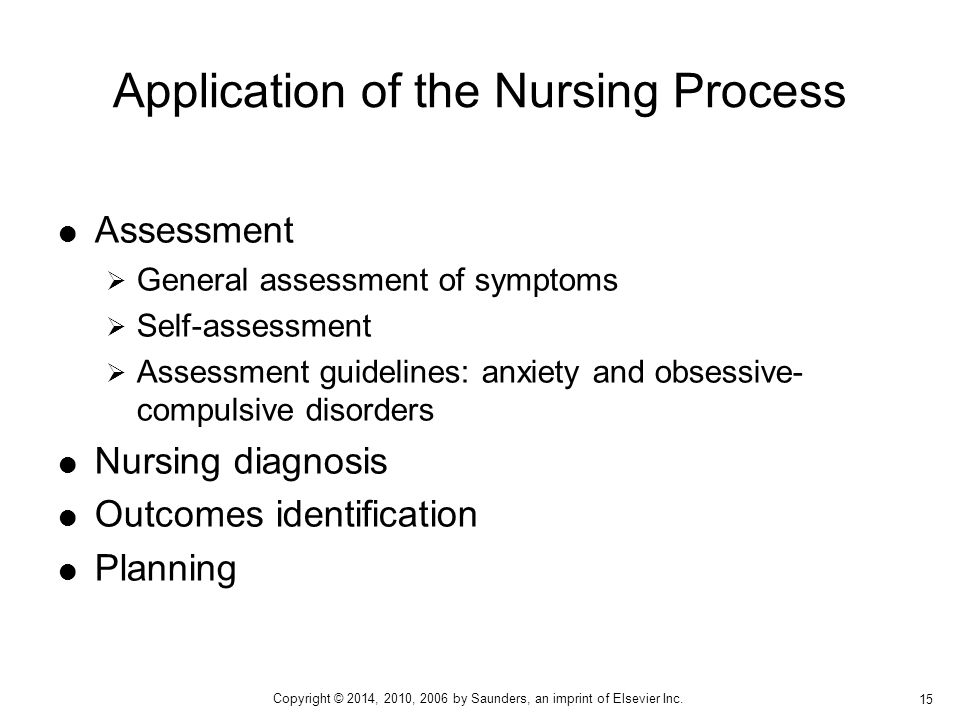 Application of the Nursing Process