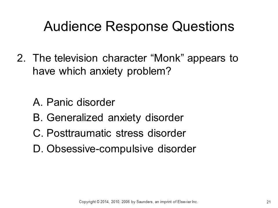 Audience Response Questions
