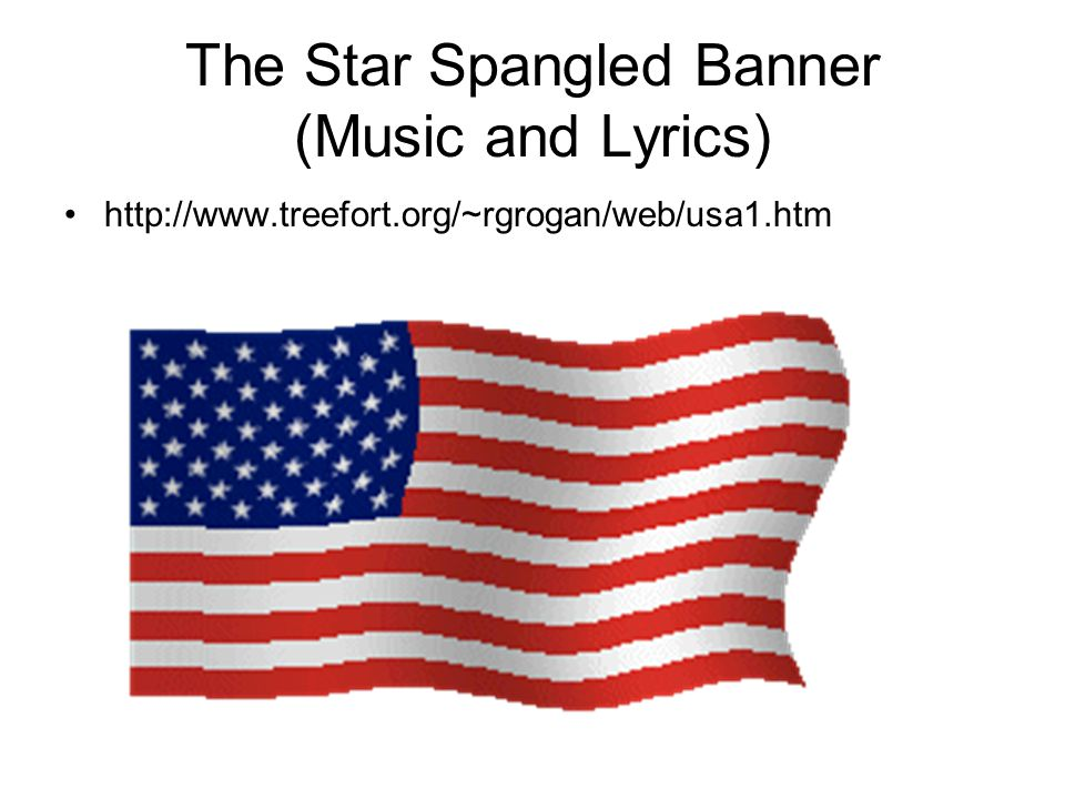 The Star Spangled Banner (Music and Lyrics)
