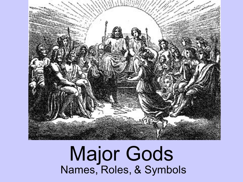 Major Gods Names, Roles, & Symbols