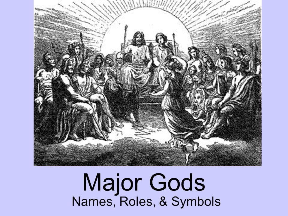 Major Gods Names, Roles, & Symbols