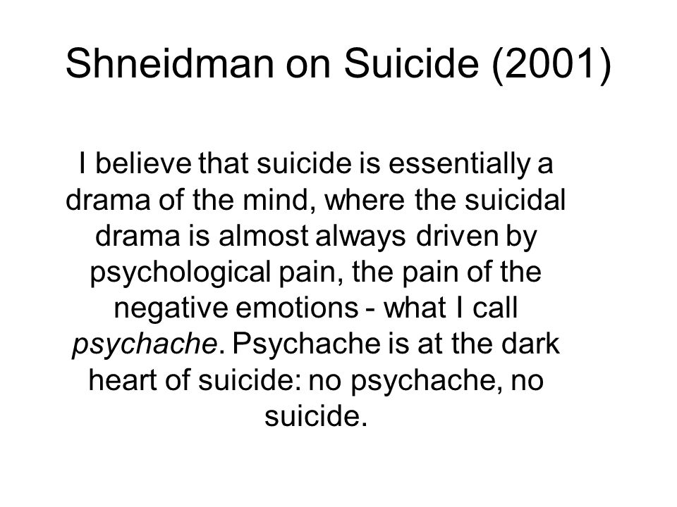 Shneidman on Suicide (2001)