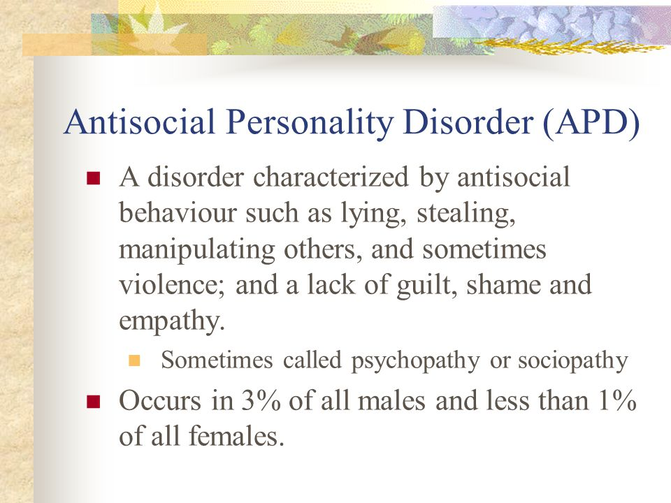 Antisocial Personality Disorder (APD)