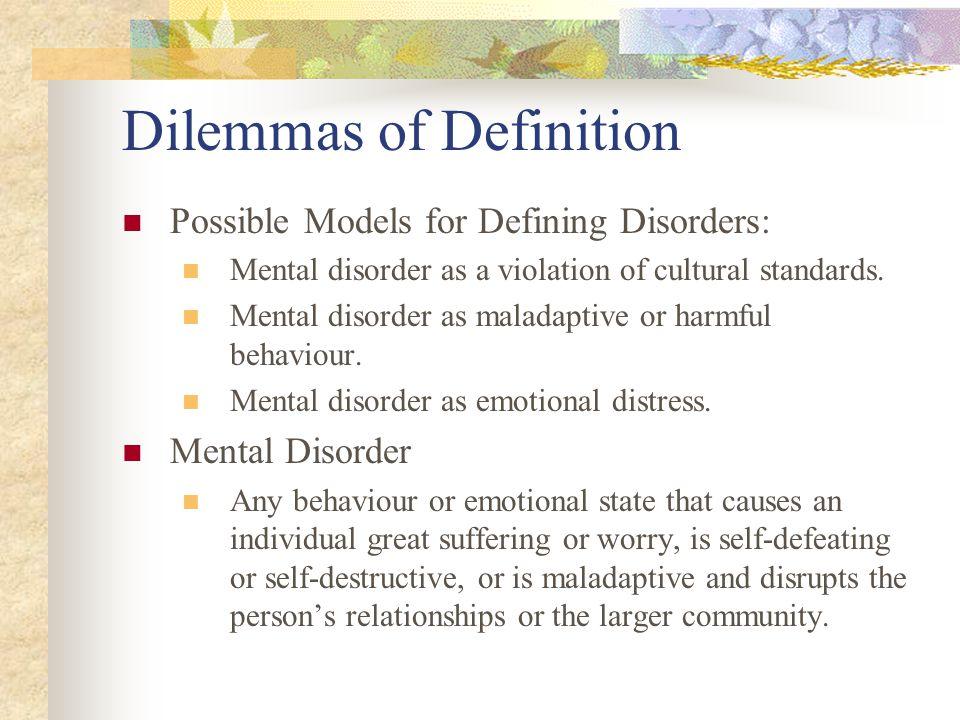 Dilemmas of Definition