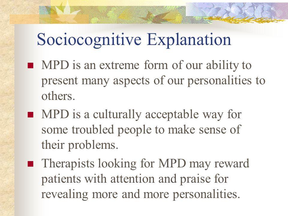Sociocognitive Explanation
