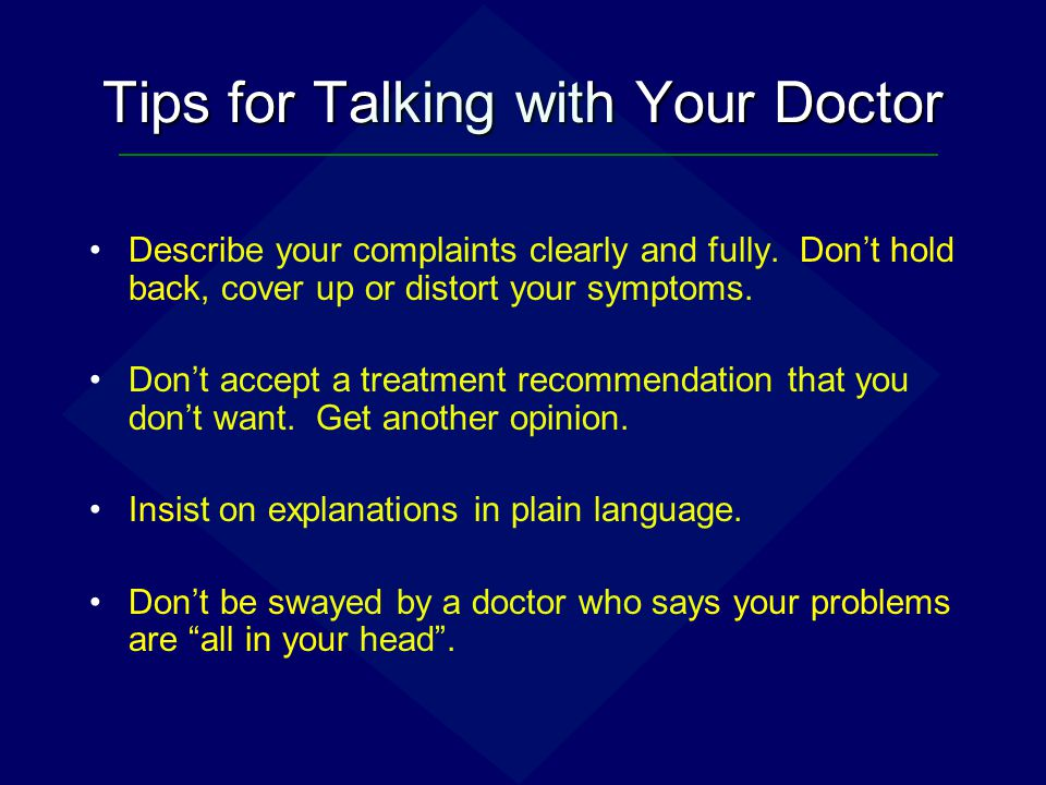 Tips for Talking with Your Doctor