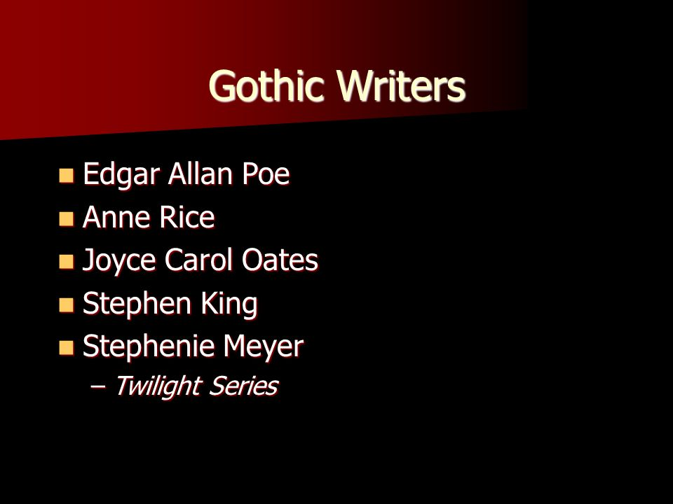 gothic literature by poe essay The gothic style in edgar allan poe's works pages 2 words more essays like this: edgar allan poe, gothic literature, gothic style sign up to view the rest.