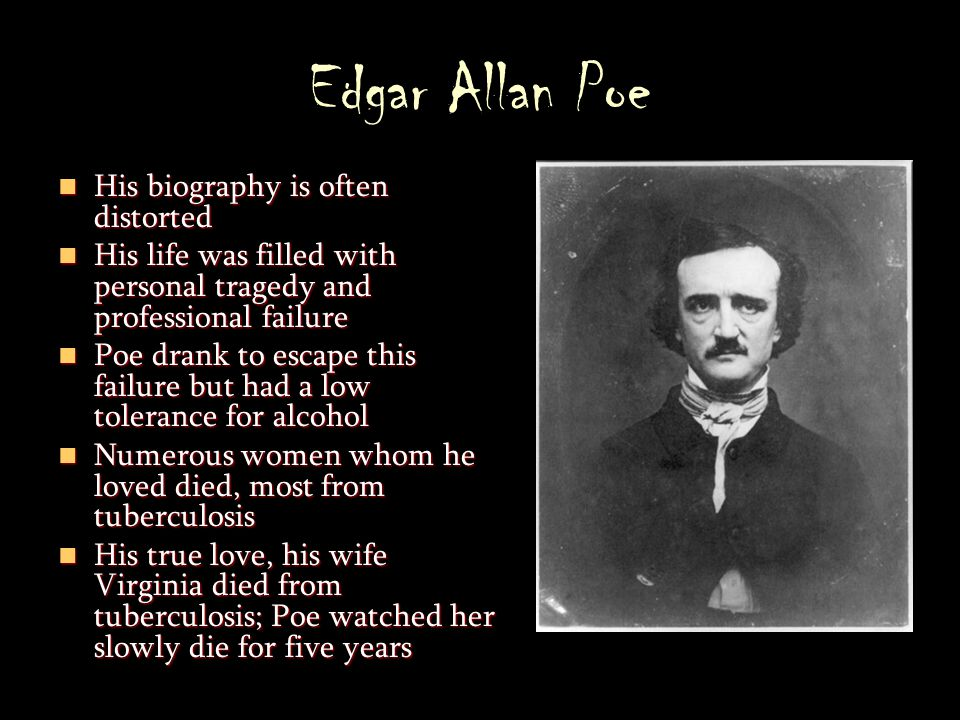 a biography of edgar allan poe and his contributions to literature Edgar allan poe is one of the most celebrated of all american authors heavily influenced by the german romantic ironists, poe made his mark in gothic fiction, especially through the tales of the macabre for which he is now so famous.