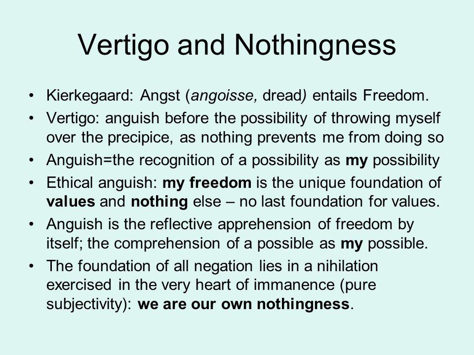 Vertigo and Nothingness