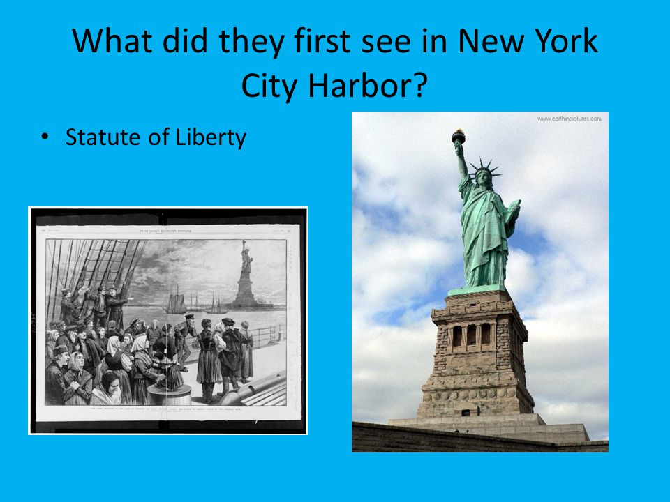 What did they first see in New York City Harbor