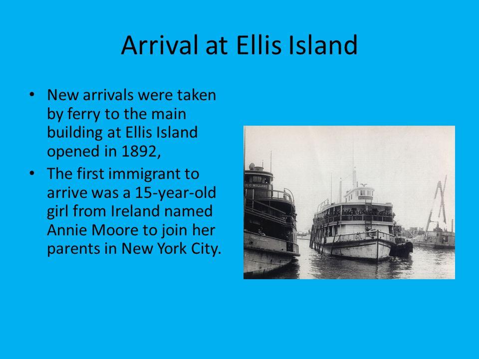 Arrival at Ellis Island