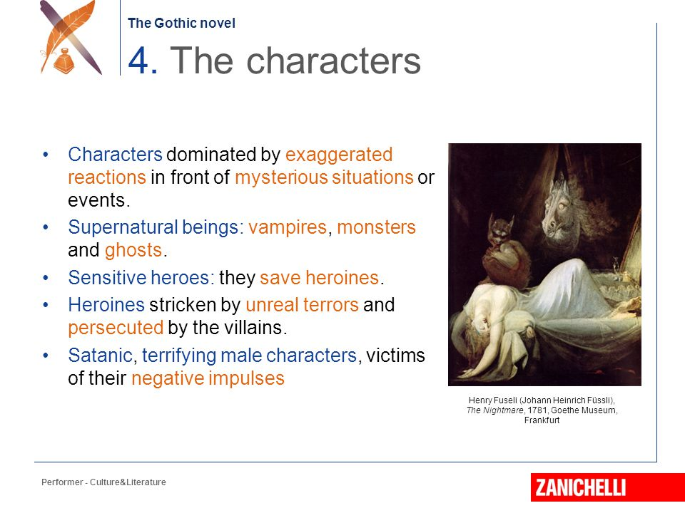 4. The characters Characters dominated by exaggerated reactions in front of mysterious situations or events.