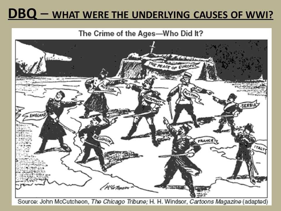 DBQ – WHAT WERE THE UNDERLYING CAUSES OF WWI