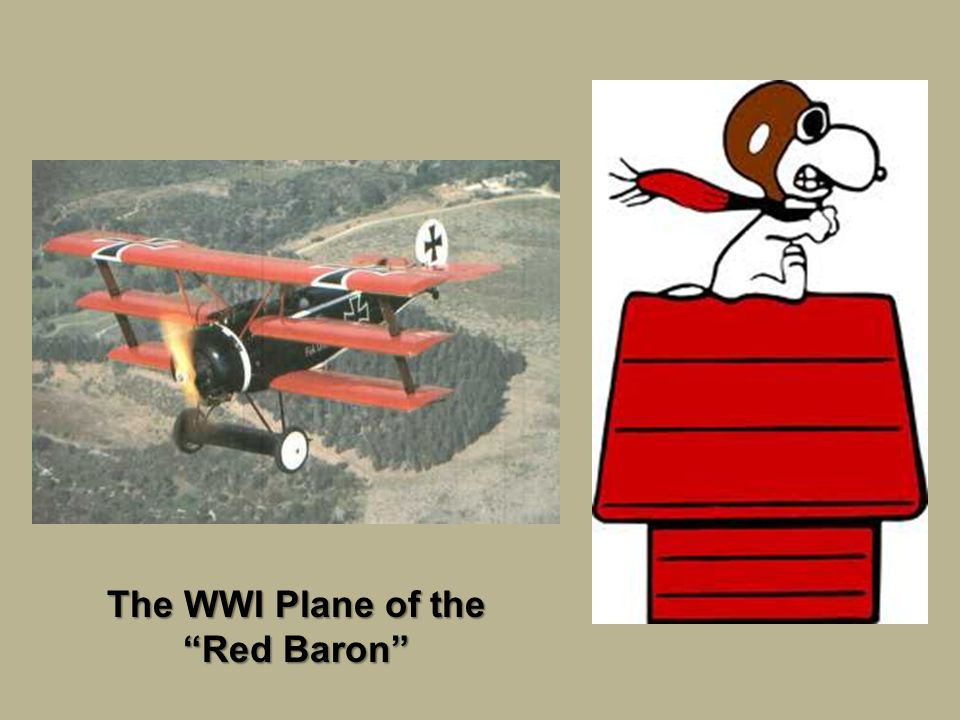 The WWI Plane of the Red Baron