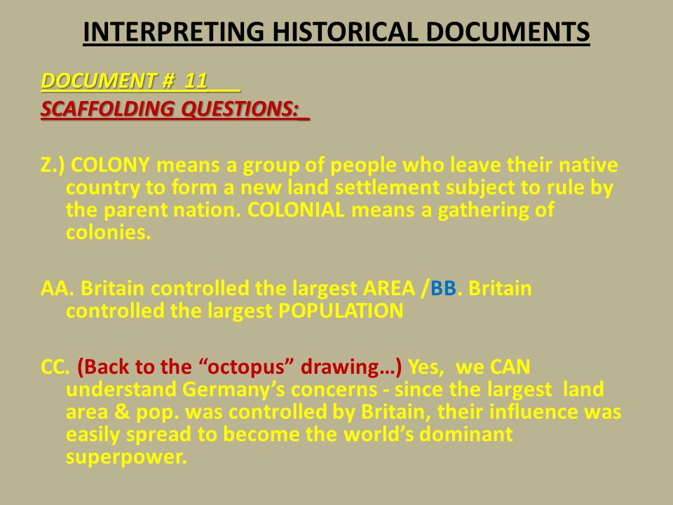 INTERPRETING HISTORICAL DOCUMENTS