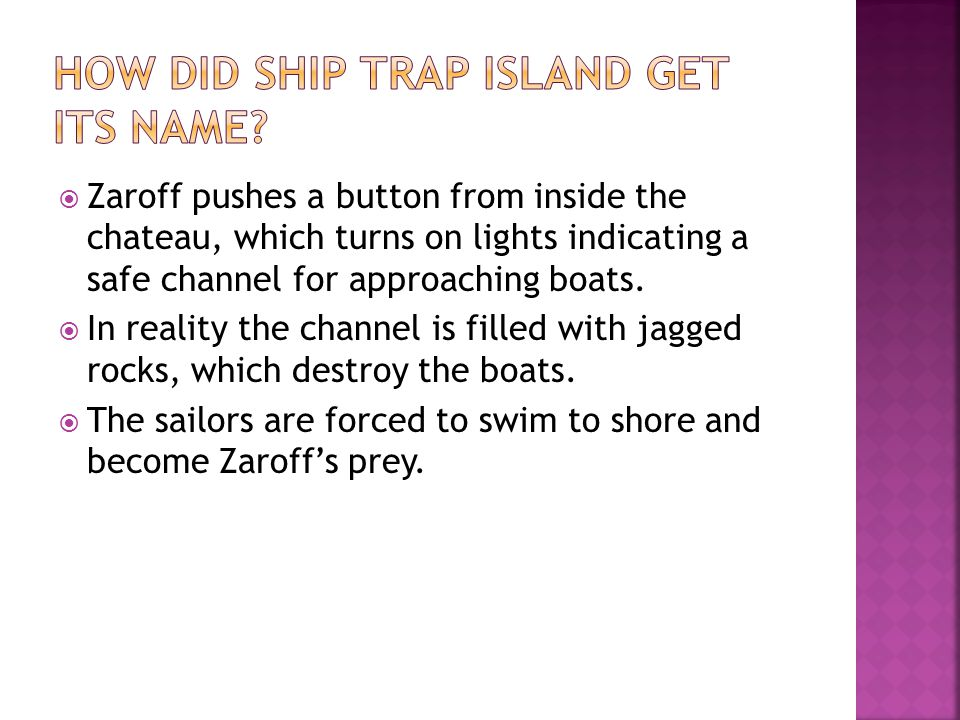 How did Ship Trap Island get its name