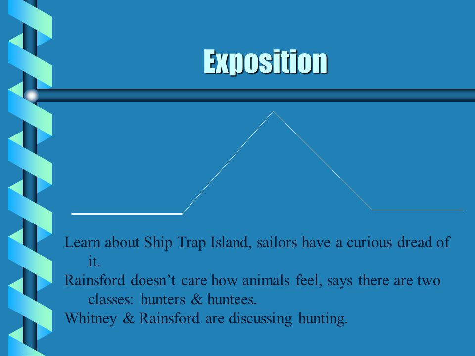Exposition Learn about Ship Trap Island, sailors have a curious dread of it.