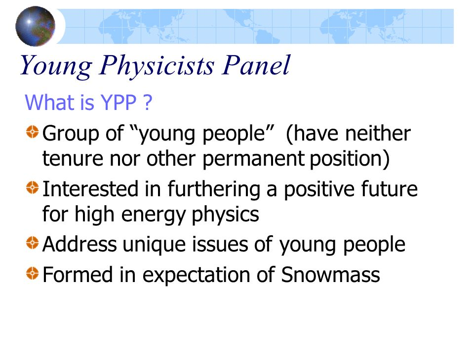 Young Physicists Panel
