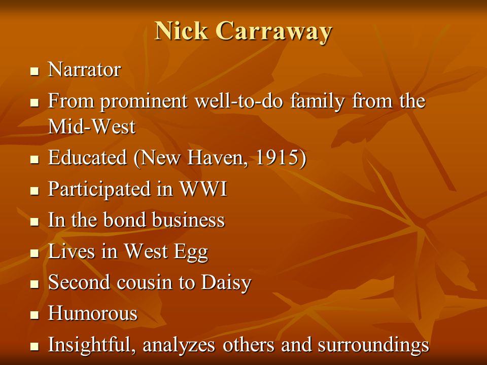 Nick Carraway Narrator