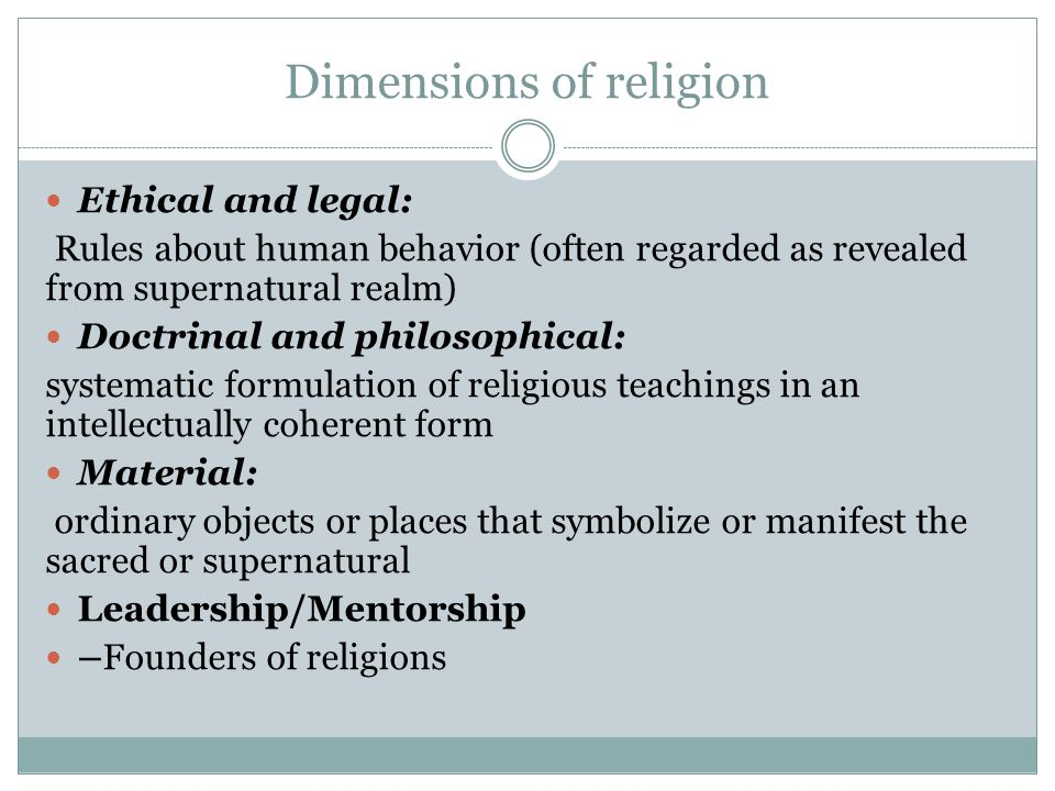Dimensions of religion