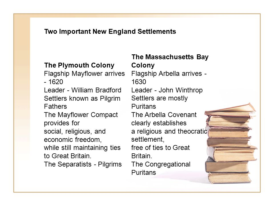 Two Important New England Settlements
