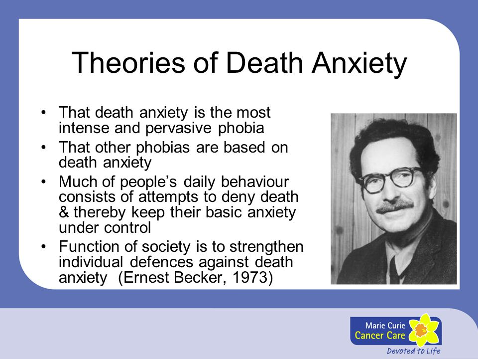 Theories of Death Anxiety
