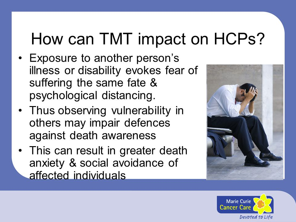 How can TMT impact on HCPs