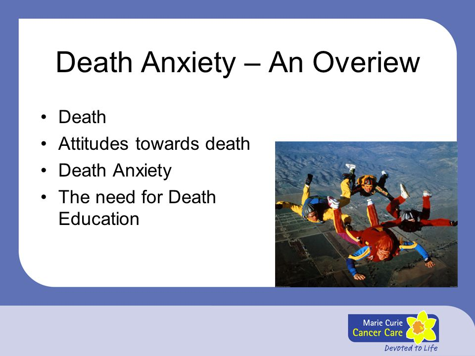 Death Anxiety – An Overiew