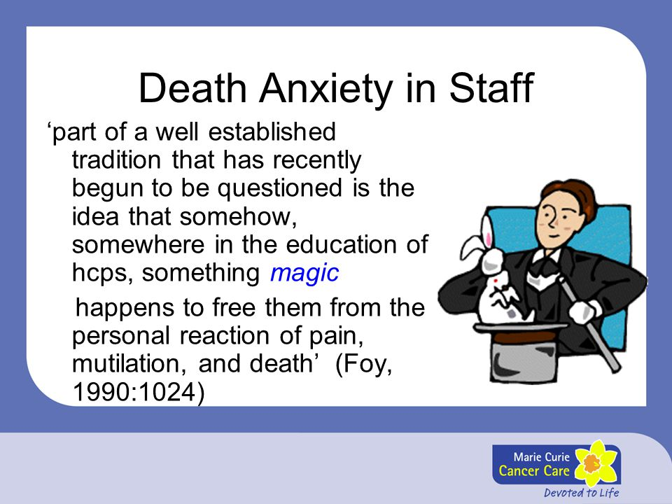 Death Anxiety in Staff