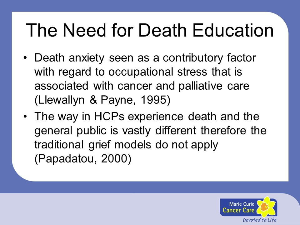 The Need for Death Education