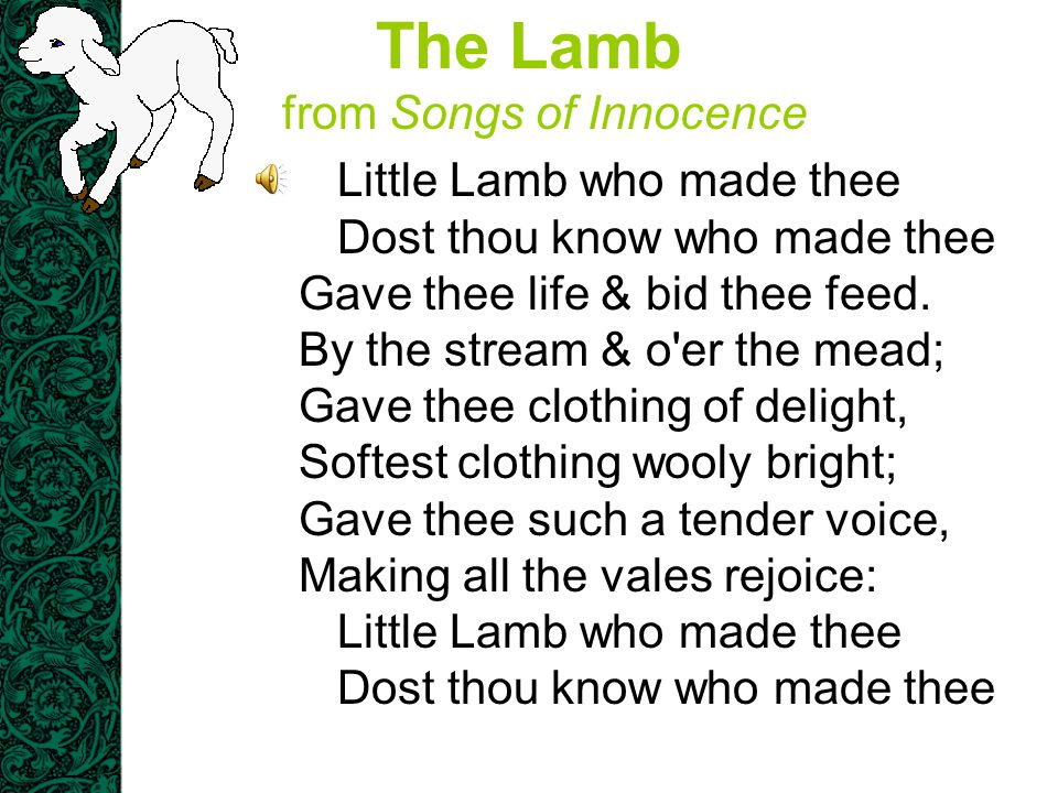 The Lamb from Songs of Innocence