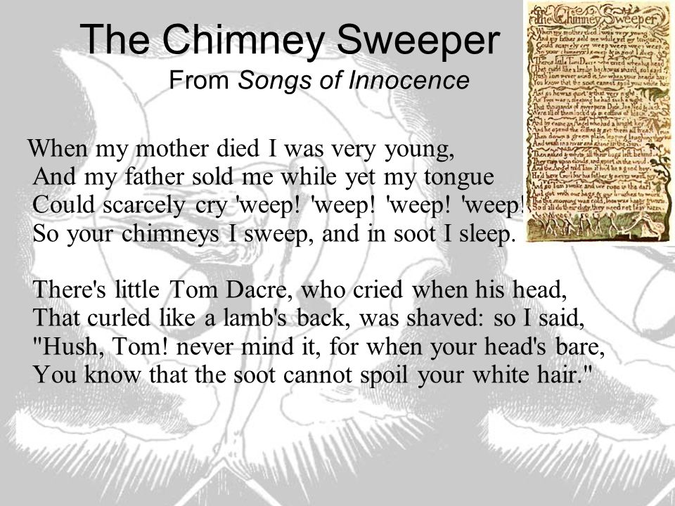 The Chimney Sweeper From Songs of Innocence