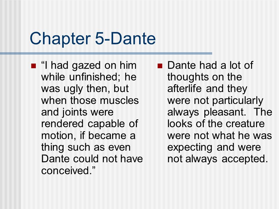 Chapter 5-Dante