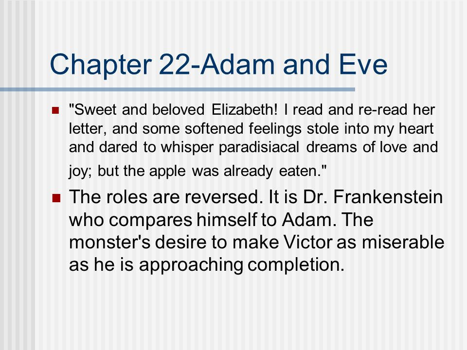 Chapter 22-Adam and Eve