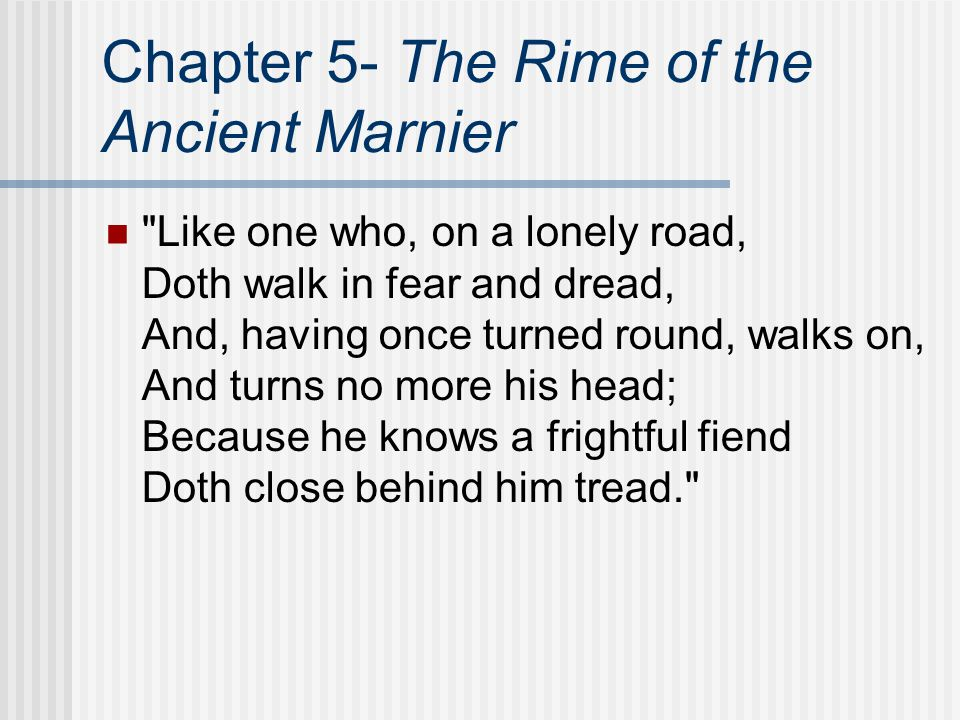 Chapter 5- The Rime of the Ancient Marnier