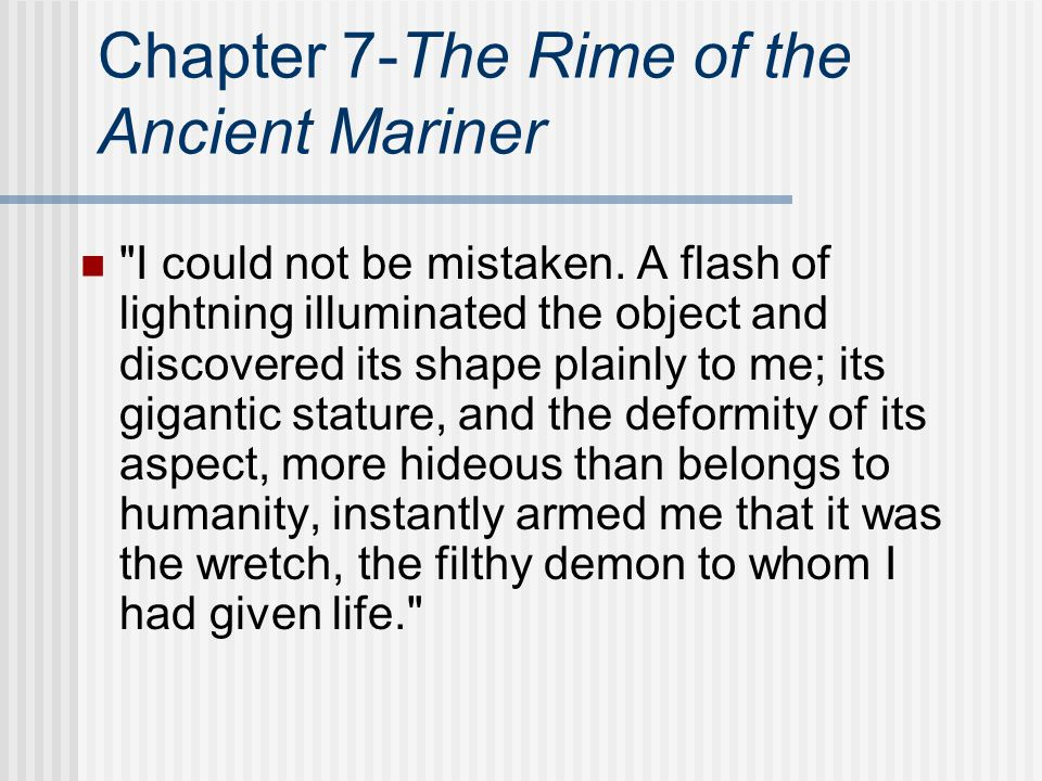 Chapter 7-The Rime of the Ancient Mariner