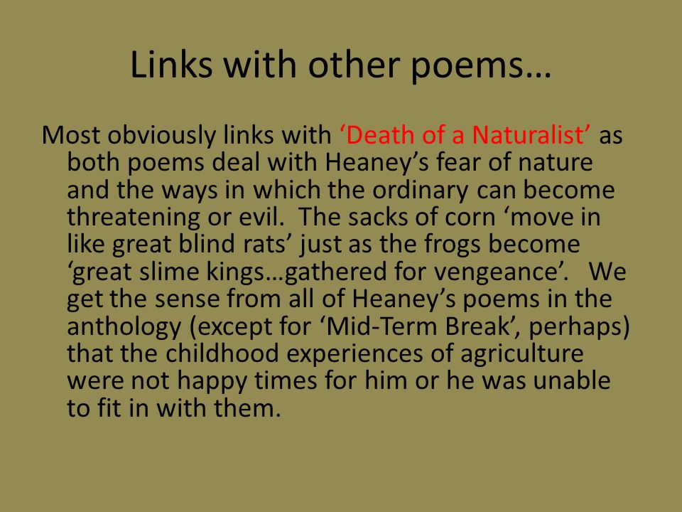 Links with other poems…