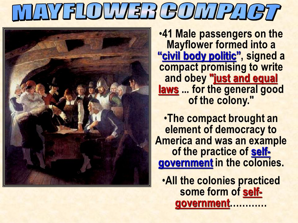 All the colonies practiced some form of self-government…………