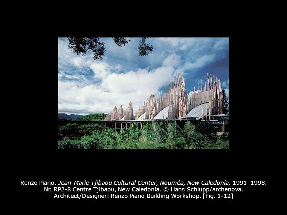 Renzo Piano. Jean-Marie Tjibaou Cultural Center, Nouméa, New Caledonia