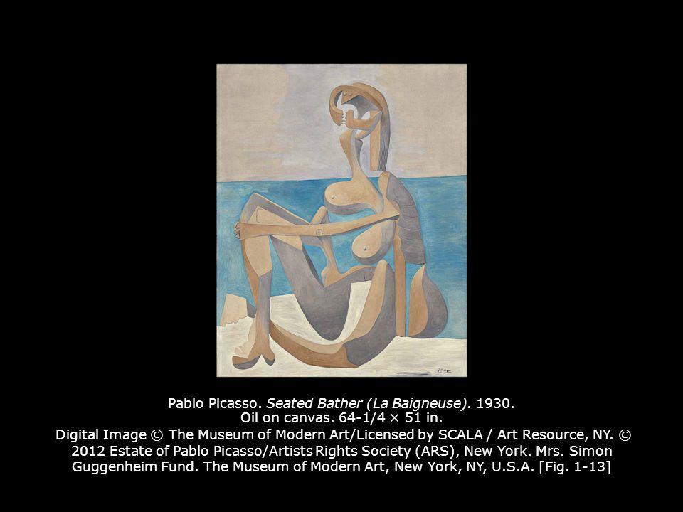 Pablo Picasso. Seated Bather (La Baigneuse). 1930. Oil on canvas