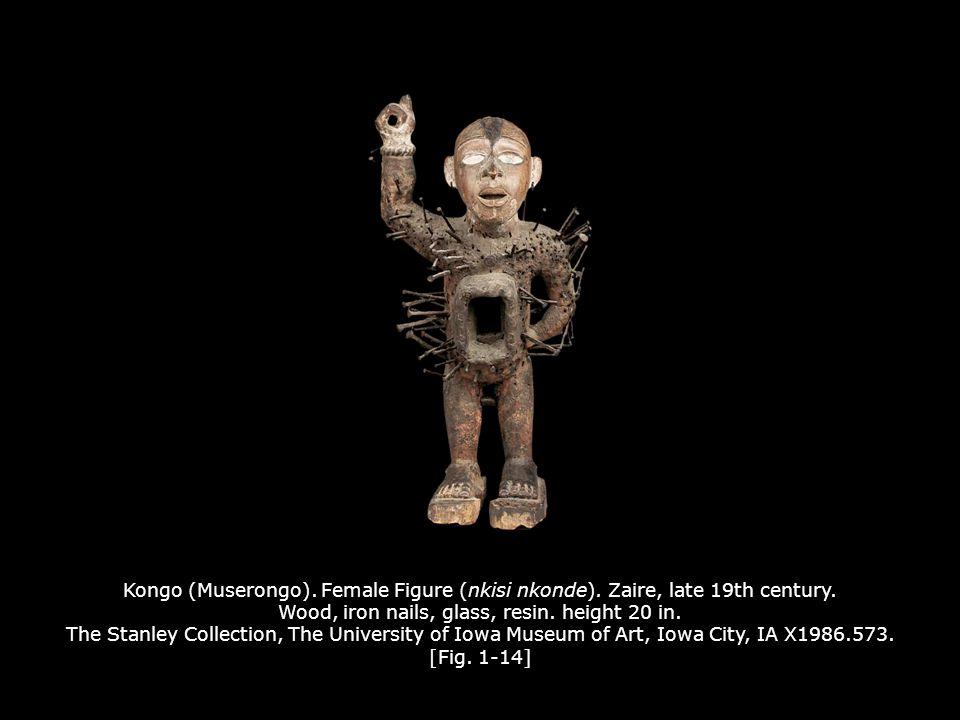 Kongo (Muserongo). Female Figure (nkisi nkonde)