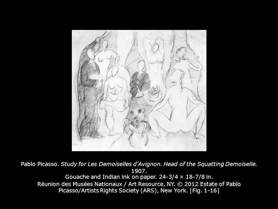 Pablo Picasso. Study for Les Demoiselles d'Avignon